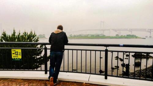 Japan , Rainbow Bridge bei Regen!