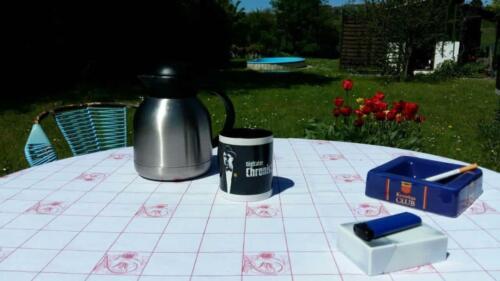 Ein Kaffee auf der Terrasse